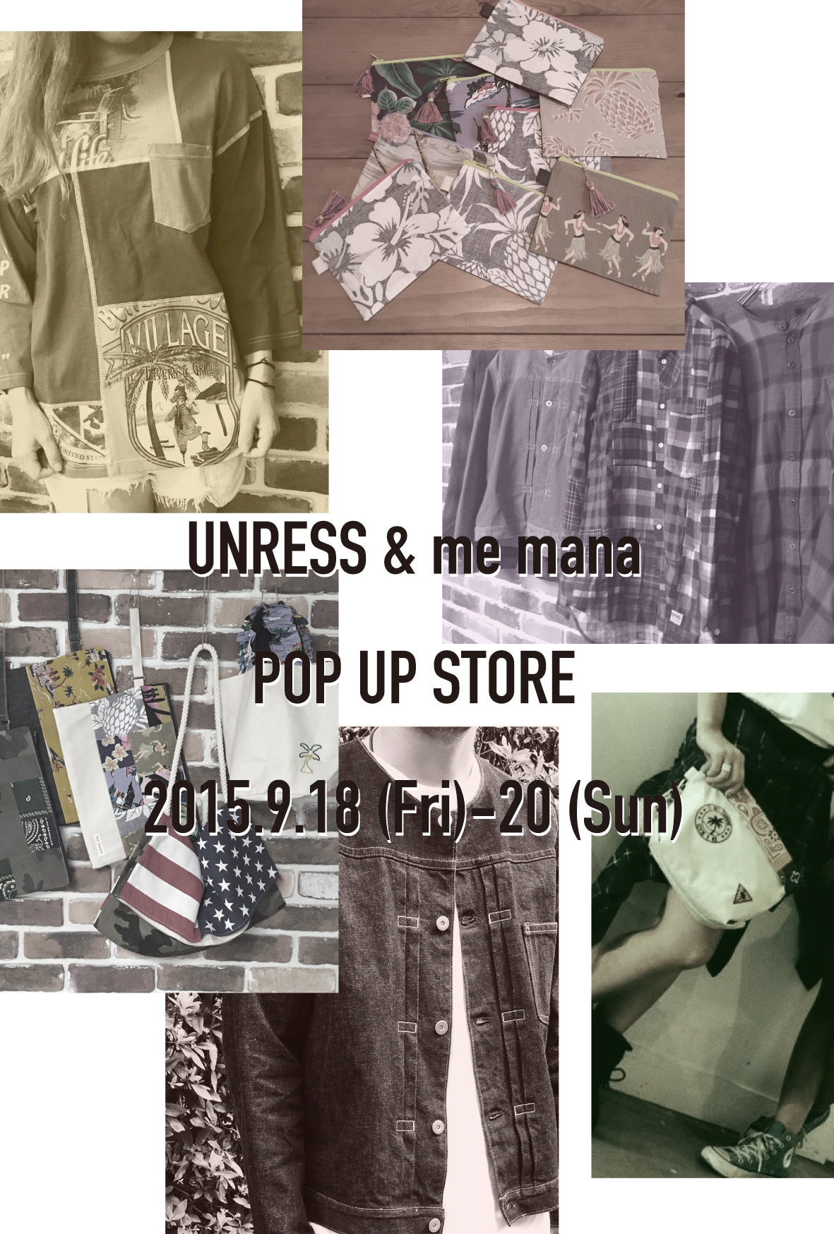 UNRESS & me mana POP UP STORE